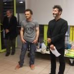 Stéphane Dimey, organisateur du tournoi de Quimperlé, avec l'arbitre Max Notter.