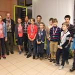 Les jeunes joueurs ont été mis à l'honneur.