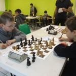 Choc chez les poussins : Titouan, meilleur Elo initial, contre Lucas, vice-champion en titre.