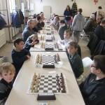"""Les six participants du tournoi """"jeunes"""" se sont affrontés lors des trois premières rondes."""