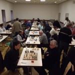 La ronde 5 se déroulait à la salle des associations de Saint-Guyomard.