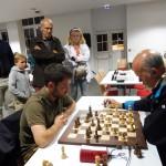 Pierre Le Borgne remporte la partie critique contre Patrice Verdier, maître FIDE.