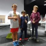 Maxime, Nicolas et Corentin, podium du tournoi jeunes.