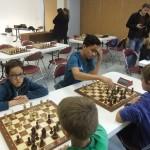 Louis Poncelet, pour son premier tournoi, a montré de belles dispositions.