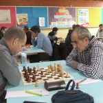 Partie équilibrée entre David et Elyazid Aribi, et pourtant le Saintannois est passé très près de la victoire.